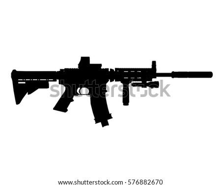 M4 silhouette vector
