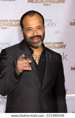 m LOS ANGELES - NOV 17:  Jeffrey Wright at the The Hunger Games: Mockingjay Part 1 Premiere at the Nokia Theater on November 17, 2014 in Los Angeles, CA - stock photo