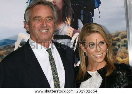 """m LOS ANGELES - NOV 19:  Robert F. Kennedy Jr., Cheryl Hines Kennedy at the """"Wild"""" Premiere at the The Academy of Motion Pictures Arts and Sciences on November 19, 2014 in Beverly Hills, CA - stock photo"""