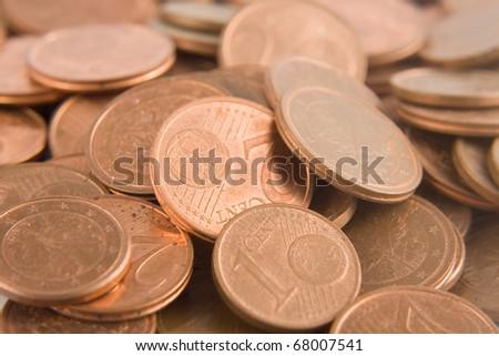 M�¼nzgeld cents europa - stock photo