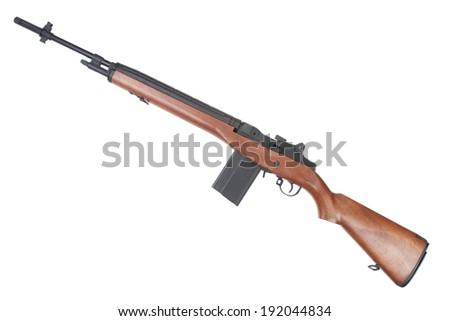 M14 rifle isolated - stock photo