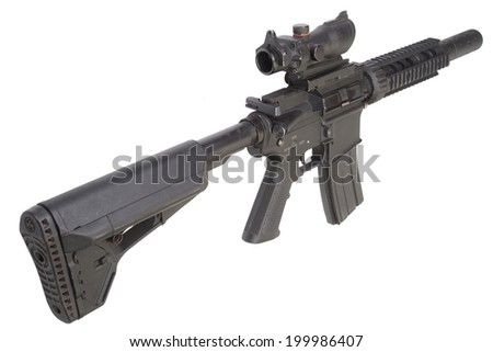 M4 special forces rifle isolated on a white background