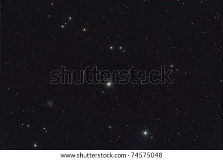M53 Star Cluster and Star Field - stock photo