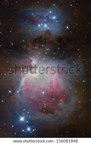 M42, The Orion Nebula - stock photo