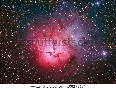 M20 Trifid Nebula in Sagittarius - stock photo