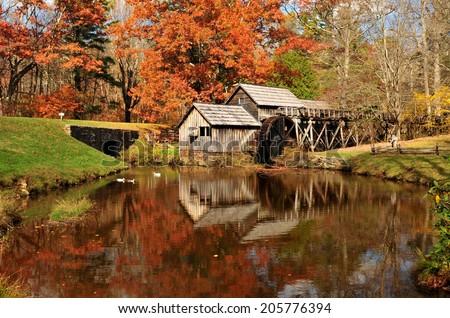 Mabry Mill on Blue Ridge Parkway, Virginia USA - stock photo