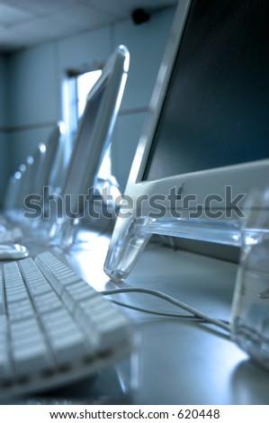 Mac Computers - stock photo