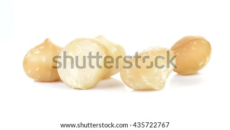 Macadamia isolated on white background.