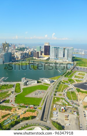 macao city view - stock photo