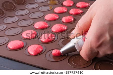 Macaron ingredients - stock photo