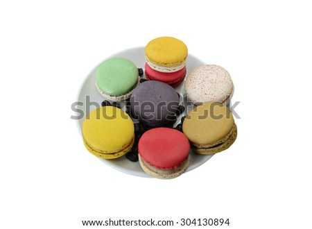 Macaron,Macaroon isolated on white.