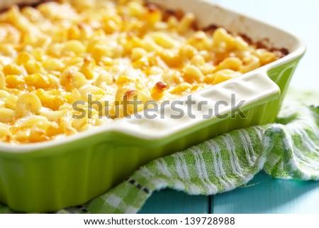 Macaroni and cheese - stock photo