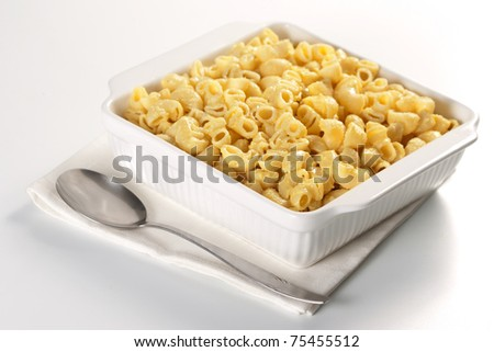 Macaroni and cheese in the casserole - stock photo