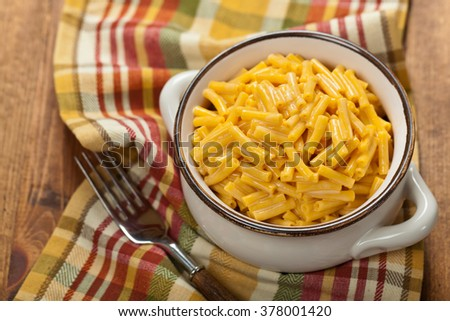 Macaroni and Cheese. Selective focus. - stock photo