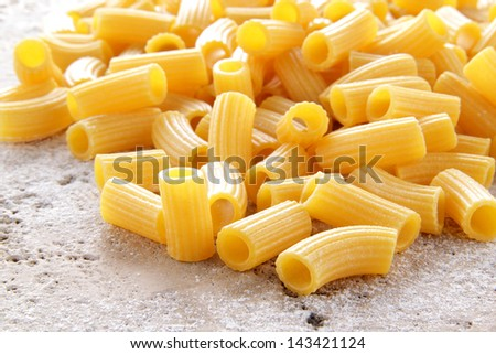 macaroni italian pasta - stock photo