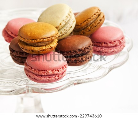 Macarons.French Pastry Speciality Colorful and Delicious Cookies