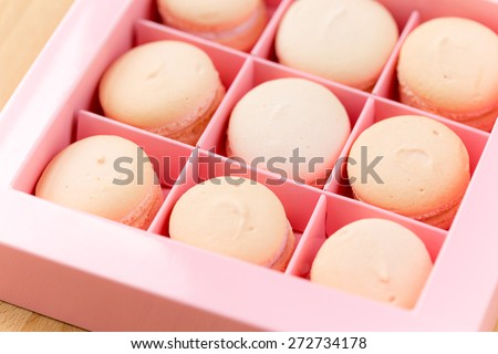 Macarons in a box - stock photo
