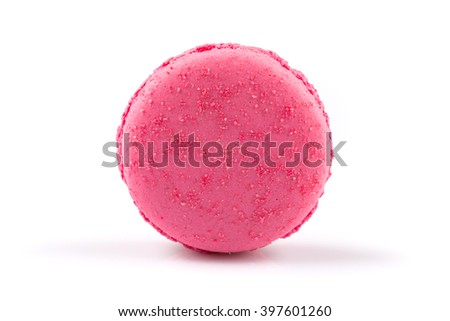 Macaroon homemade isolated on a white background