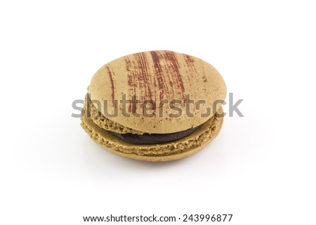 Macaroon isolated on white background
