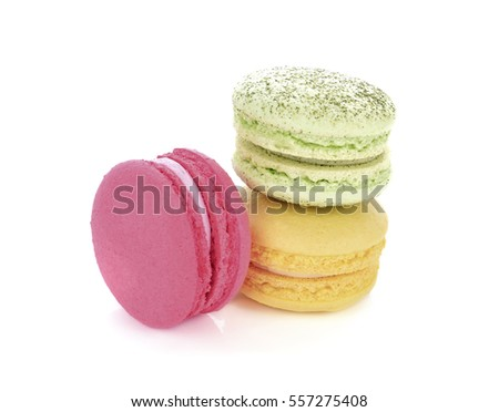 macaroon on white background