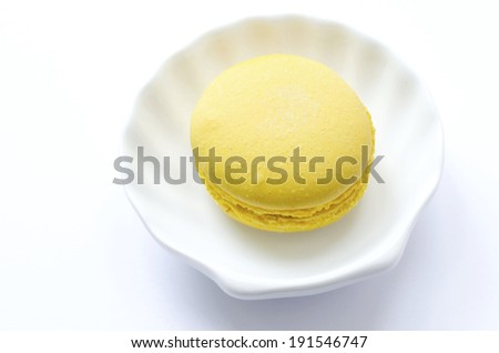 Macaroon. One macaroon on the white background
