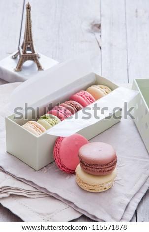 Macaroons - stock photo