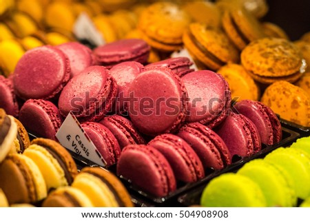 Macaroons at Salon du Chocolat, Brussels, Belgium