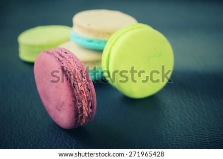 Macaroons colorful