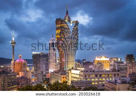 Macau, China city skyline. - stock photo