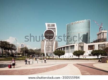 MACAU,CHINA - NOV 24:The city of dreams on Nov 24, 2015 in Macau. This is a major tourist attraction in Macau. - stock photo