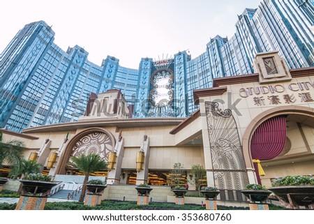 MACAU,CHINA - NOV 24:The Studio City on Nov 24, 2015 in Macau. This is a major tourist attraction in Macau. - stock photo