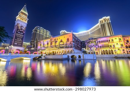 Macau february 16 2015 venetian macao stock photo royalty free macau february 16 2015 the venetian macao at night it is a thecheapjerseys Images