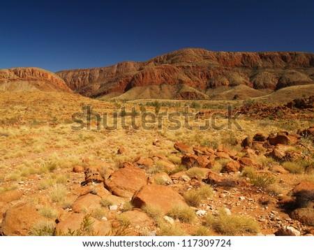 MacDonnell Ranges, Australia - stock photo
