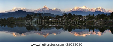 Machhapuchhre mountain - stock photo