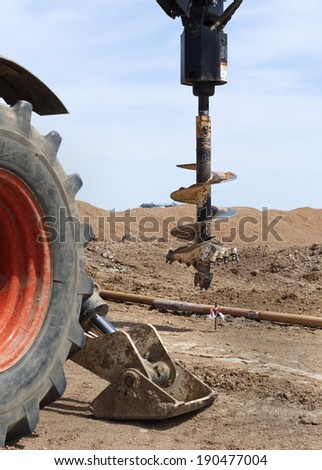 machine for drilling holes - stock photo