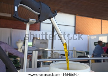 Machine for producing of biodiesel - stock photo