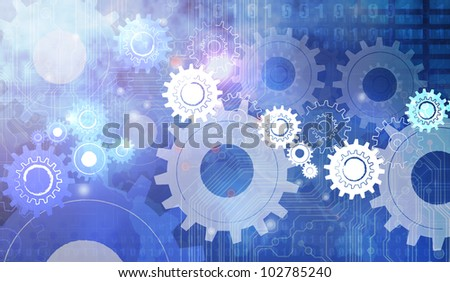 Machine Gear Wheel Cogwheel - stock photo