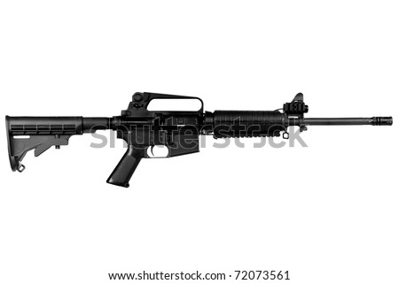 Machine gun isolated over a white background