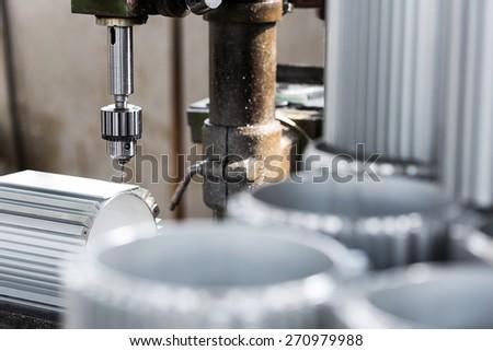 machine manufacture spare parts - stock photo