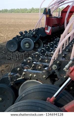 machine on the field - stock photo