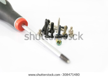 Machine screws very important for mounting components. - stock photo