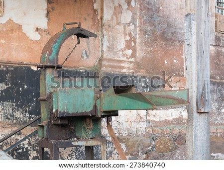 machine sugarcane - stock photo