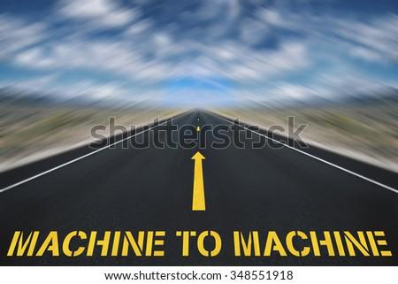 machine to machine concept - stock photo