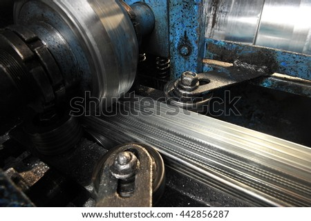 machines for metal rolling, the work process.