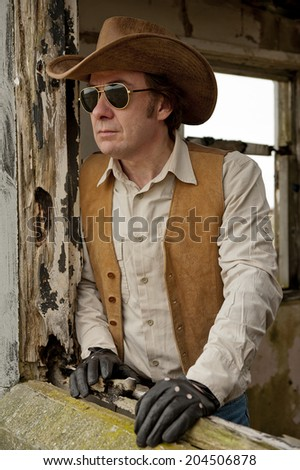 Macho Cowboy - stock photo