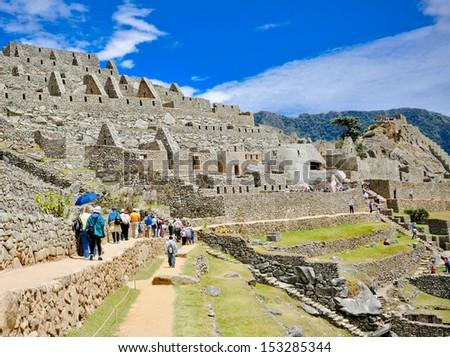 Machu Picchu complex Peru - stock photo