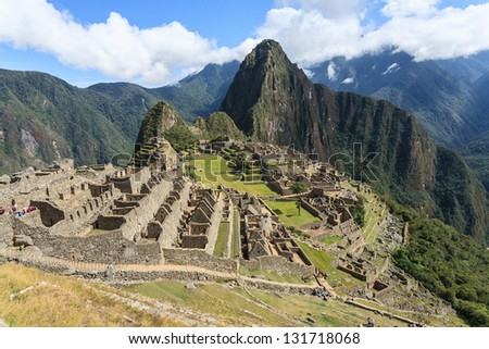 Machu Picchu, cuzco, Peru,  new seven wonder of the world - stock photo