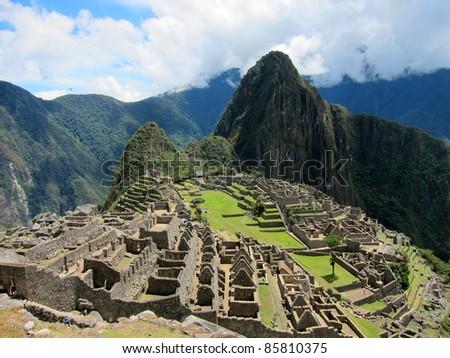 Machu Picchu, near Cuzco, Peru - stock photo