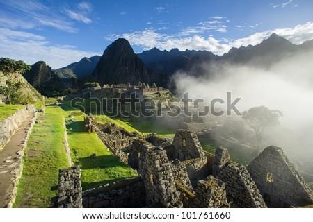 Machu Picchu Sunrise - stock photo