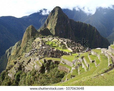 Machu Picchu, the lost city of the Andes, Peru - stock photo